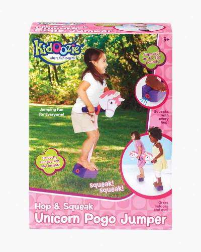 Hop and Squeak Unicorn Pogo Jumper