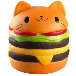 Squishies Squeeze Toys Cat Burger Squishies Squeeze Toy