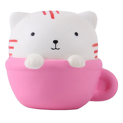 Cat in Cup Squishies Squeeze Toy