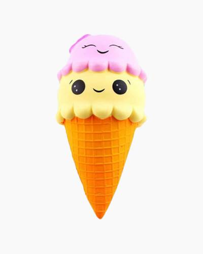 Smiley Double Scoop Cone Squishies Squeeze Toy