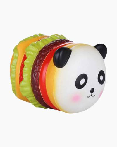 Panda Hamburger Squishies Squeeze Toy