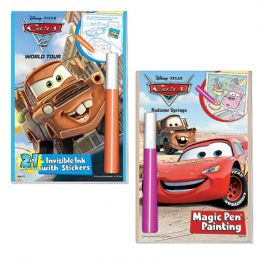 Lee Publications Invisible Ink: 2 in1 Disney/Pixar Cars 2 World Tour