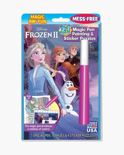 Disney's Frozen 2 Magic Pen Painting and Sticker Puzzle Book
