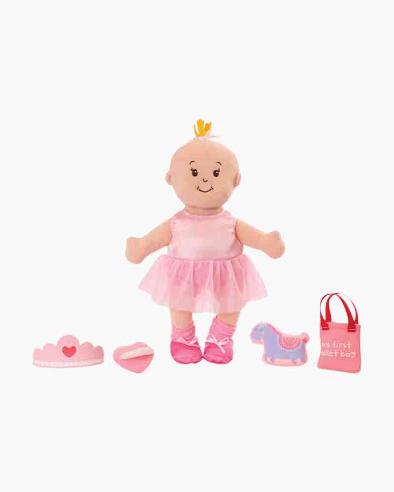 Manhattan Toy Wee Baby Stella Tiny Ballerina 12 Soft Baby Doll Set 156290