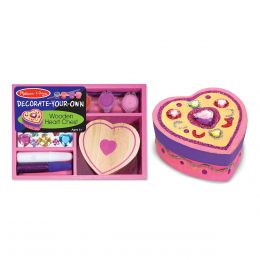 Melissa and Doug Decorate-Your-Own Wooden Heart Box