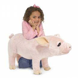 Melissa and Doug Pig Lifelike Stuffed Animal