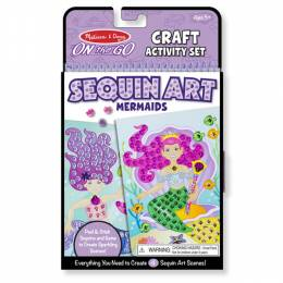 Melissa and Doug Mermaids On-the-Go Crafts Sequin Art