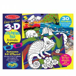 Melissa and Doug Animals 3D Coloring Book