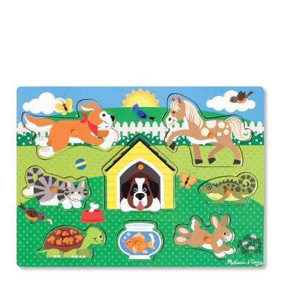 Friendly Pets Peg Puzzle