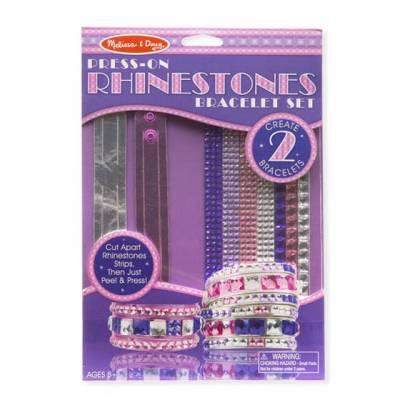 Press-On Rhinestones Bracelet Set