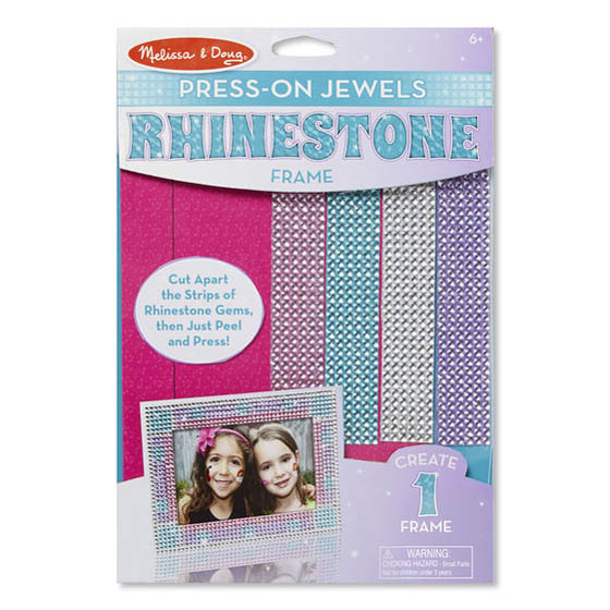 Melissa and Doug Press-On Rhinestones Picture Frame