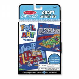 Melissa and Doug On-the-Go Crafts Foil Art Vehicles