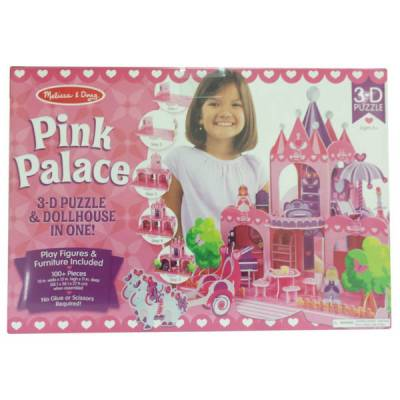 Pink Palace 3D Puzzle and Dollhouse in One