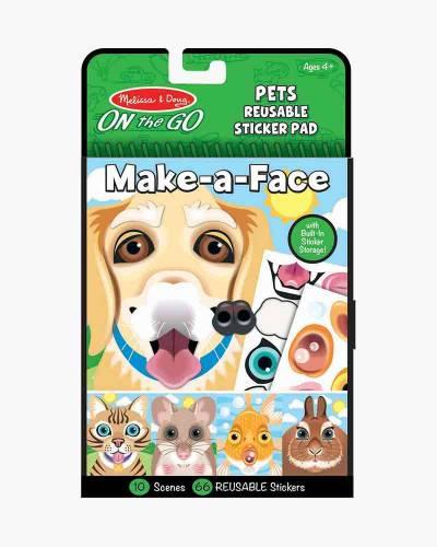 Make-A-Face Pets Reusable Sticker Pad
