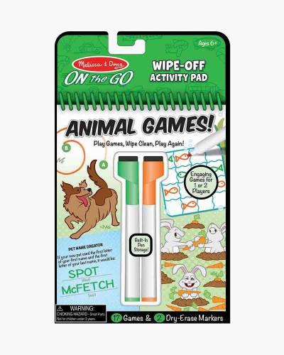Animal Wipe-Off Activity Pad
