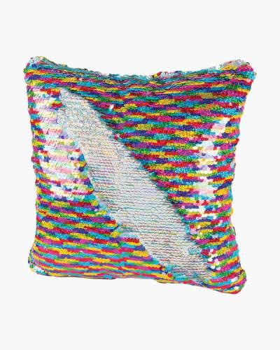 Magic Sequin Pillow in Rainbow