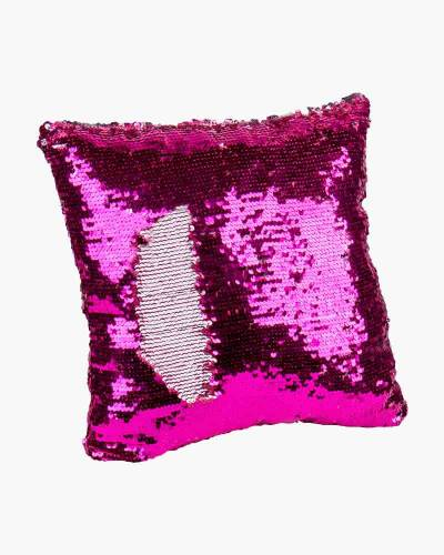Magic Sequin Pillow in Pink