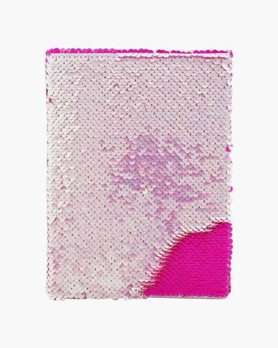 Iridescent Pink Mermaid Color-Changing Sequin Journal