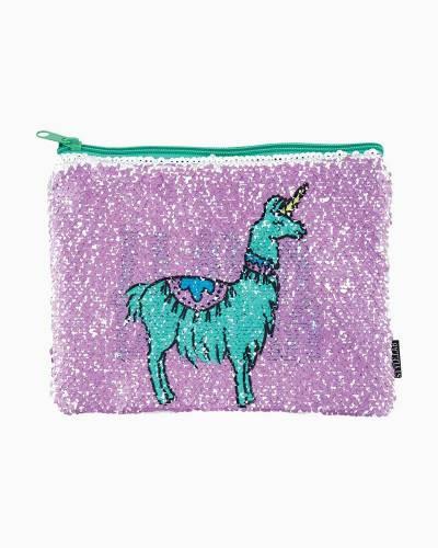Llama Drama Sequin Zipped Pouch