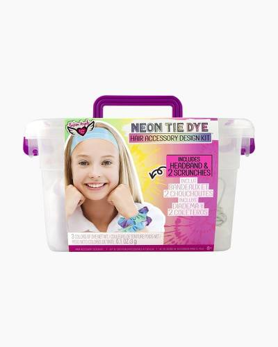 Neon Tie Dye Scrunchies and Hair Accessory Design Kit