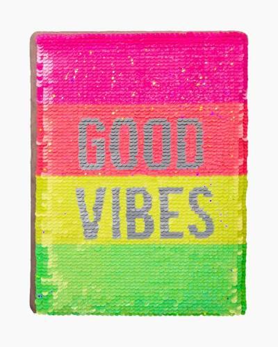 Neon Sequin Good Vibes Activity Journal
