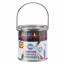 Alex 100 Crayons Paint Can Set