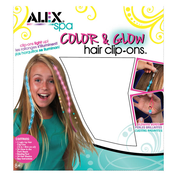 Alex Color and Glow Hair Clip-Ons
