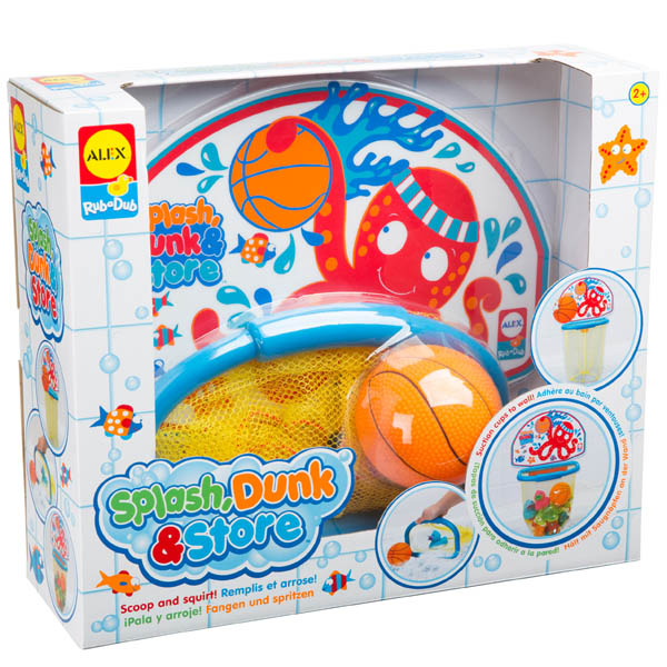 Alex Splash, Dunk and Store Bathtub Basketball Set