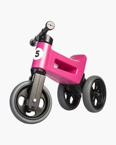 Free Wheelin' Rider Sport Convertible Balance Bike in Cool Pink