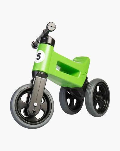 Free Wheelin' Rider Sport Convertible Balance Bike in Racing Green