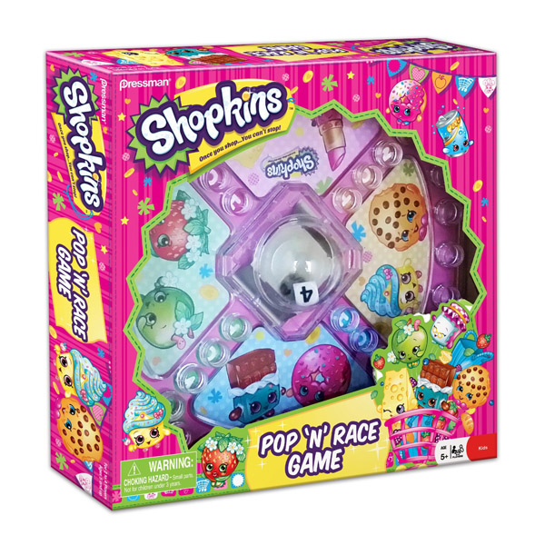 Shopkins Shopkins Pop And Race Board Game