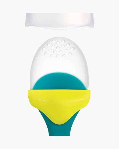 Pulp Silicone Feeder in Teal and Yellow