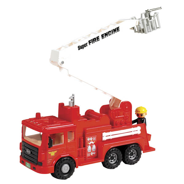 Small World Toys Fire Engine Toy with Figurine