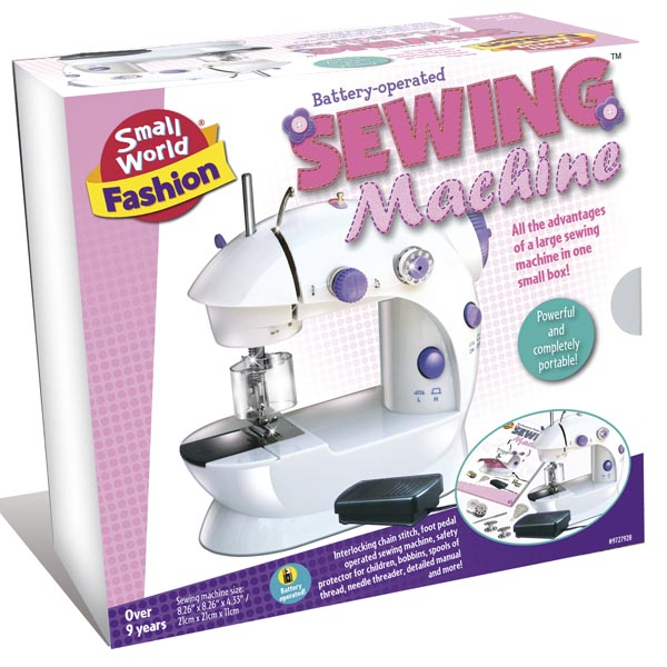 Small World Toys Battery-Operated Sewing Machine