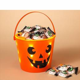 The Gerson Company LED Jack-o'-lantern Trick or Treat Bucket