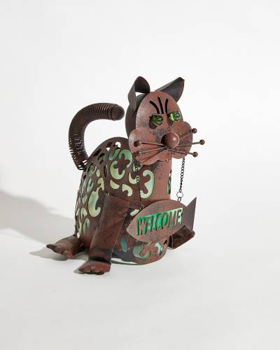 Sitting Welcome Cat Light-Up Figure