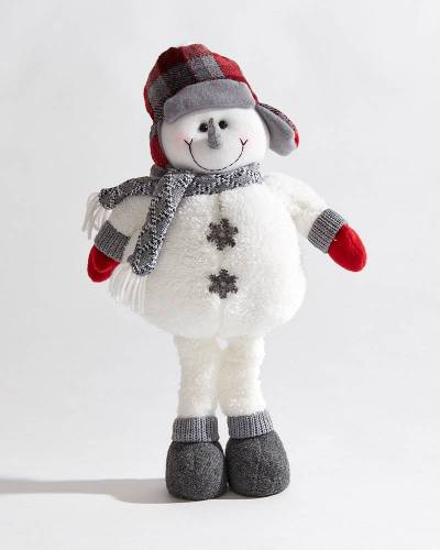 Plush Holiday Snowman Figurine
