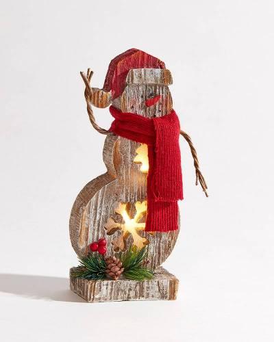 LED Light-Up Snowman Figurine
