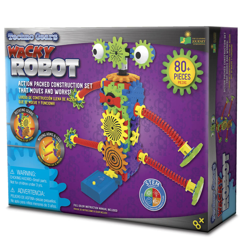 The Learning Journey International Techno Gears Wacky Robot Construction Kit