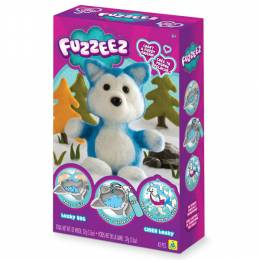 Fuzzeez Husky Dog Plush Making Kit