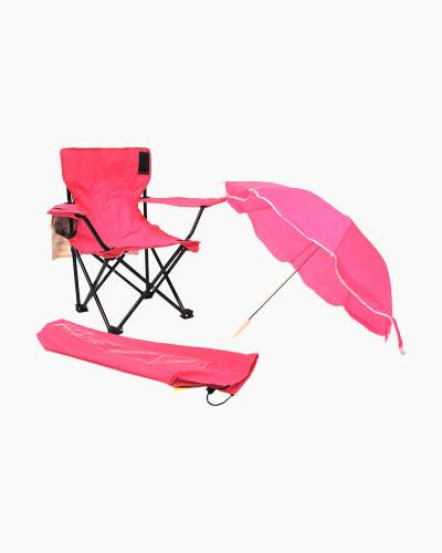 Kid's Camp Chair with Umbrella in Pink