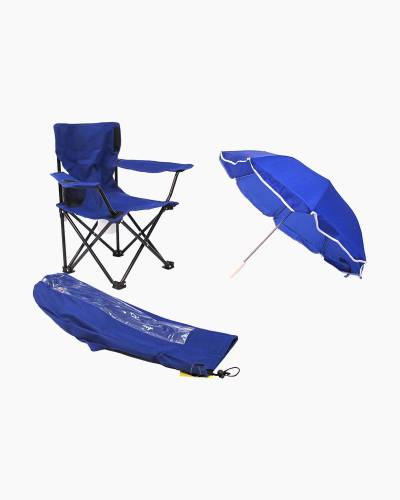 Kid's Camp Chair with Umbrella in Blue