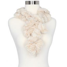 Gena Accessories Faux Fur Scrunch Scarf