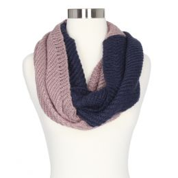 Gena Accessories Two Tone Knit Infinity Scarf
