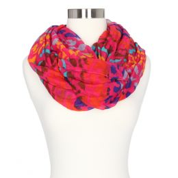 Gena Accessories Bright Leopard Style Infinity Scarf