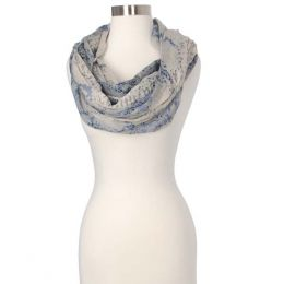 Gena Accessories Abstract Leopard Print Infinity Scarf