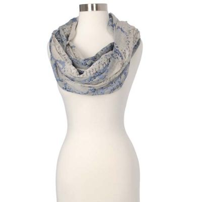 Abstract Leopard Print Infinity Scarf