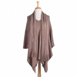 Gena Accessories Poncho with Scarf