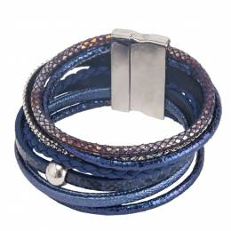 The Paper Store Multi-Layer Wrap Bracelet in Blue