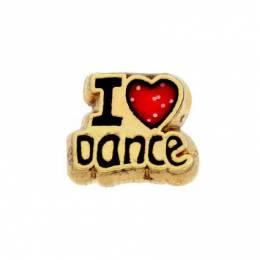 Forever in My Heart I Love to Dance Locket Charm